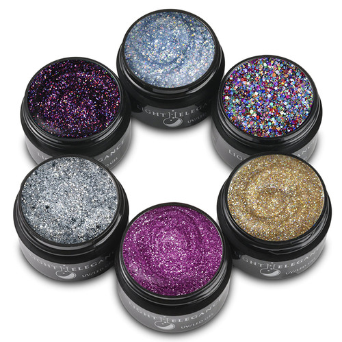 Light Elegance UV/LED Glitter Gel Winter 2021 It's All About Me Collection - 6 PC