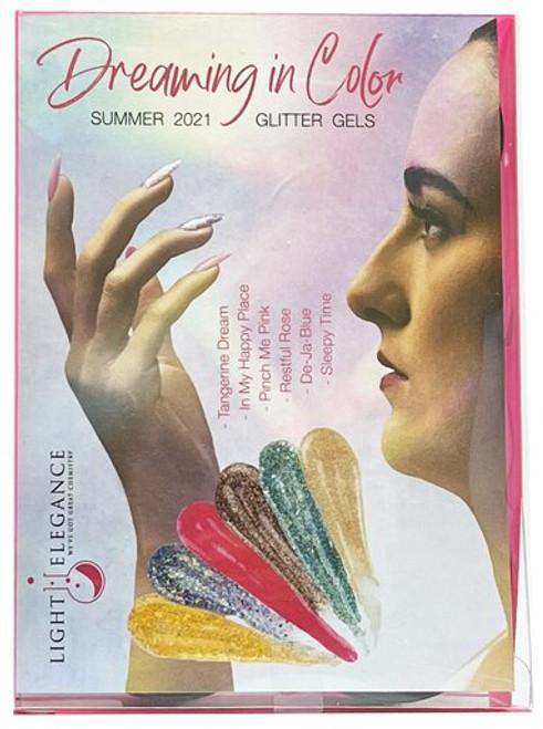 Light Elegance UV/LED Glitter Gel Summer 2021 Dreaming in Color Collection - Open Stock