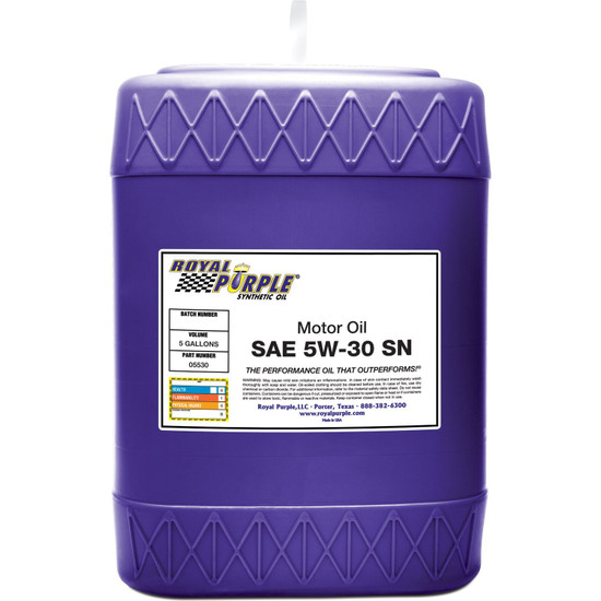 SAE 5W-30 High Performance Synthetic Motor Oil