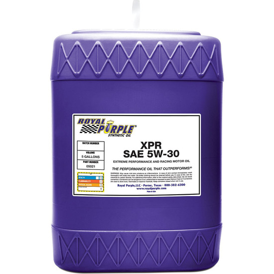 5 gallon - XPR 5W-30 Extreme Performance Racing