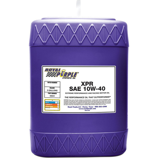 5 gallon - XPR 10W-40 Extreme Performance Racing