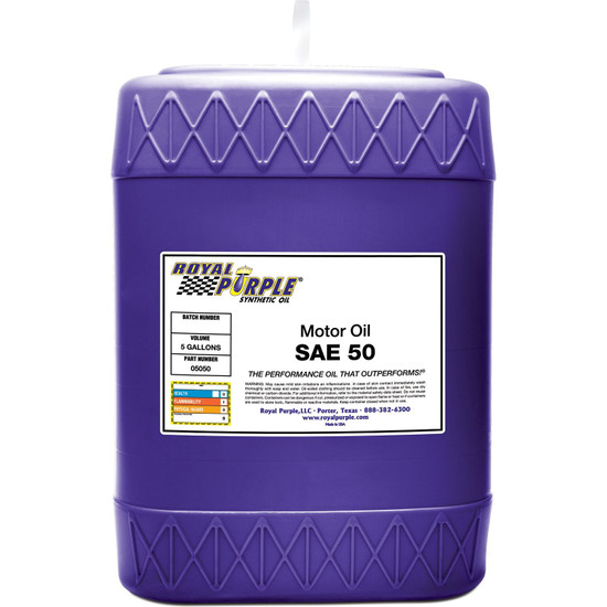 5 gallon - SAE 50 High Performance Synthetic Motor Oil