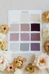 Chiffon Bridesmaid Color Collection Swatch Page 3: Neutrals, Purples