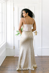 Model Faith, Size: 8, Color: Champagne Gold