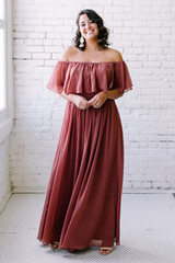Home Try-On Abigail Chiffon Dress