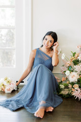 Model: Saije, Size: 4, Color: Dusty Blue