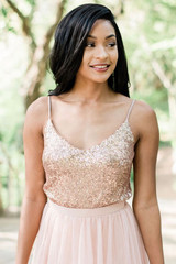 Ivy Bridesmaid Top in Rose Gold