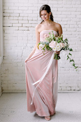 Model: Marlee, Size S, Color: Pearl Pink