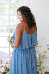 Model: Charisse, Size: 16, Color: Dusty Blue