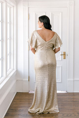 Model Claudia, Size: 16, Color: Champagne Gold