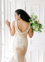Model Faith, Size: 10, Color: Champagne Gold