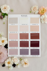Tulle Bridesmaid Color Collection Swatch Page 2: Burgundies, Blushes, Purples