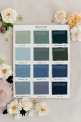 Tulle Bridesmaid Color Collection Swatch Page 1: Blues, Greens and Grays