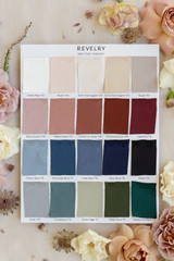 Full satin swatch color collection