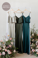 Bardot is available in Silver Sage, Deep Olive, and Classic Emerald (named from left to right).