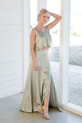 Model: Britt, Size: 4, Color: Silver Sage