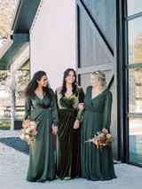 Model Left: Faith, Size 8, Color: Deep Olive, Model Middle: Claudia, Size 16, Color: Olive, Model Right: Allison, Size 20, Color: Deep Olive