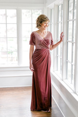 Model Debby, Size 4, Color: Dusty Rose