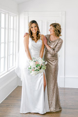 Model: Debby, Size: 4, Color: Champagne Sequin (coming soon!) Model: Amanda, Size 14, Color: White Pearl Satin