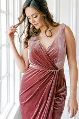 Model: Claudia; Size: 16; Color: Dusty Rose