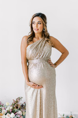 Model: Amanda, Size: 12, Color: Champagne Gold