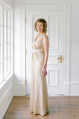 Model: Debby, Size 6, Color: Champagne Gold
