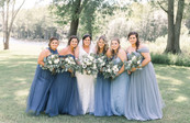 Katie + Jason's Rustic Wedding in Shades of Blue