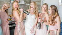 Finally The Bride: Dee's Glittering Gold And Blush Try-On Party Is All Of The Brunch Goals