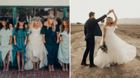 "This Dreamy Desert Wedding Is The True Definition of ""Blue-tiful"""