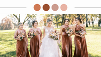 Get inspired with these 6 real rust wedding moodboards