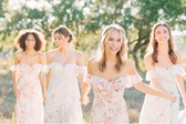 3 ways to incorporate floral print bridesmaid dresses into your wedding