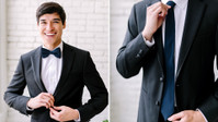 Cue The Celebration: Chiffon Ties And Bow Ties Are Officially Here