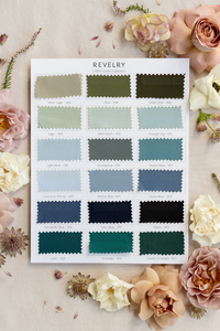 Chiffon Bridesmaid Color Collection Swatch Page 1: Blues & Greens