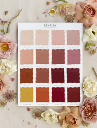 Chiffon Bridesmaid Color Collection Swatch Page 2: Blushes, Burgundies