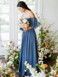 Model: Saije, Size: 4, Color: Romantic Blue