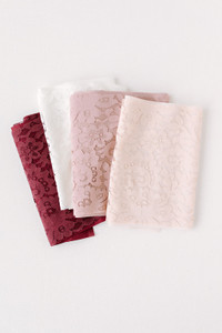 Order our lace fabric by the yard.