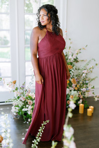 Model: Charisse, Size: 16, Color: Cabernet