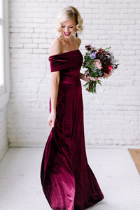 Model: Alyssa, Size 4, Color: Burgundy
