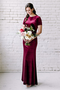 Model: Marlee, Size 4, Color: Burgundy