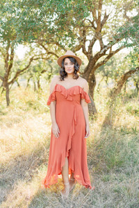Model: Claudia, Size 14, Color: Rust Orange