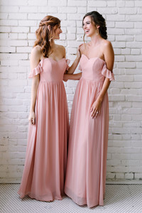 Model on Left: Grace, Size: 2, Color: Antique Blush  Model on Right: Lindsey, Size: 4, Color: Antique Blush