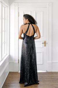 Home Try-On Tori Sequin Dress