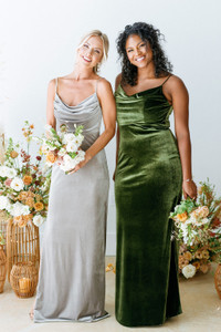 Model Left: Britt, Size: 4, Color: Sage  Model Right: Charisse, Size 16, Color: Olive