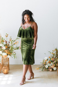 Model: Charisse, Size: 16, Color: Olive