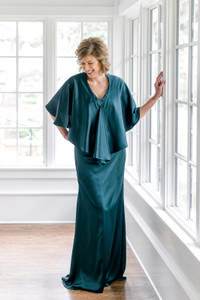 Model: Debby, Size: Small, Color: Classic Emerald