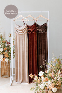 Gemma is available in Champagne, Terracotta and Dusty Purple (named from left to right).