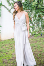 Hannah Bridesmaid Dress in Dove Grey Chiffon