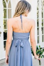 Hannah Bridesmaid Dress in Dusty Blue Chiffon