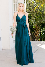 Hannah Bridesmaid Dress in Enchanted Forest Chiffon (renamed Jade)