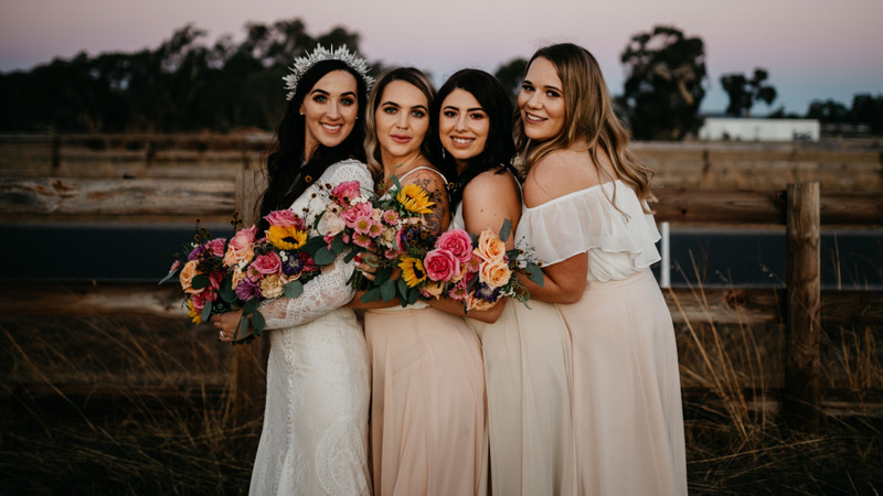 Blush Babes And A Boho Bride Make For The Most Beautiful Bohemian Wedding